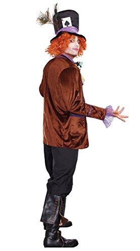 Dreamgirl Men's Hatter Madness Costume, Multi,