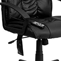 Flash Furniture High Back Massaging Leather Executive Swivel Office Chair