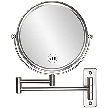 Amazon Com Wall Mounted Makeup Mirror 10x Magnification