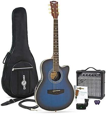 Guitarra Electroacustica Roundback + Ampli de 15 W Blue Burst