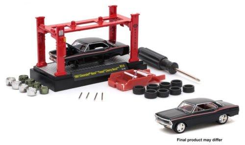 New 1:64 Model Kits AUTO-LIFT WAVE 14 ASSORTMENT - BLACK 1967 CHEVROLET NOVA