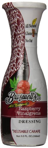 Braswell Dressing Carafe, Raspberry, 9 Ounce (Pack of 6)
