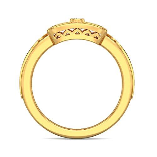 Or jaune 18K, 0,02carat Diamant Blanc (IJ | SI) en diamant