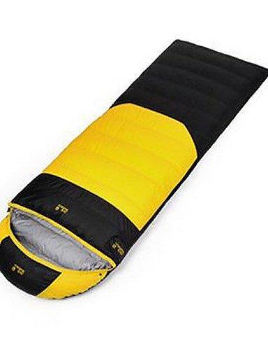 Schlafsack Rechteckiger Schlafsack Einzelbett(150 x 200 cm) -5 Enten Qualitätsdaune 1100g 210X80 Reisen Wasserdicht / warm haltenJack