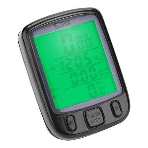 VGEBY Bike Computer, Multifunction Waterproof Bicycle Speedometer Cycling Odometer with Large LCD Display