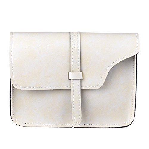 Cross Vintage Leather Soft Body Style PU Shoulder Beige Fashion Women's Bag QZUnique nq0Xxaq