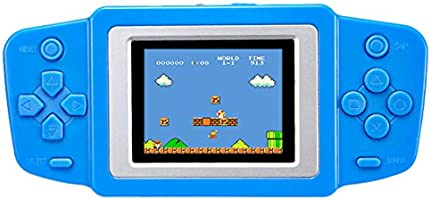 """Handheld Game Console Classic Retro Video Gaming Player Portable Arcade System Birthday Gift for Kids Recreation 2.5"""" Color LCD Built in 268 Games (Red)"""