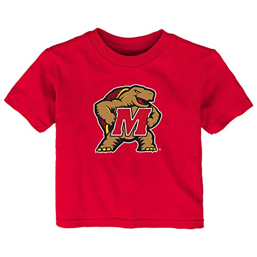 (Gen 2 NCAA Maryland Terrapins Infant Primary Logo Short Sleeve Tee, 12 Months, Red)