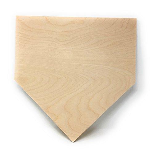 """Gocutouts Home Plate 12"""" Cutout Shape 1/2"""" Baltic Birch Baseball Decor Cutouts (12"""" Birch)"""