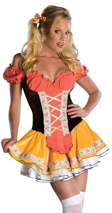 Rubie's Sexy Heidi Girl Beer Maid Outfit Halloween Costume