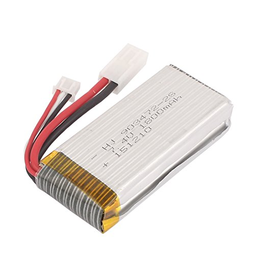 uxcell 7.4V 1800mAh Rechargeable Lithium Polymer Li-po Battery Cell XH-3P EL-2P for RC Car Helicopter