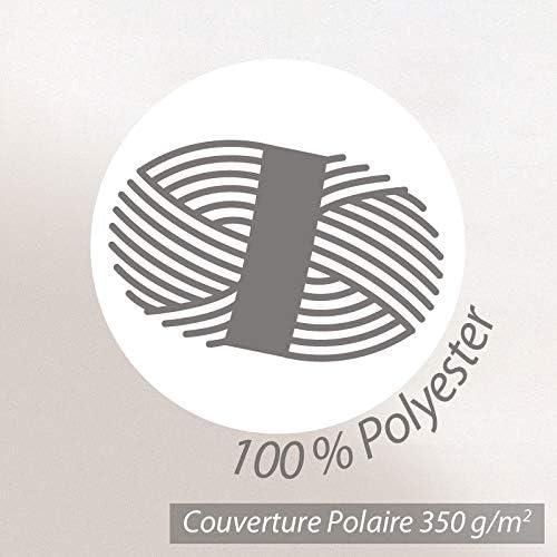 Linnea Couverture Polaire 240x300 cm 100% Polyester 350 g/m2 Teddy Marron Sable