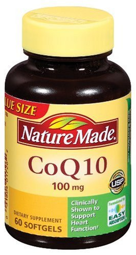 Nature Made CoQ10, 100mg, Value Size, 60 Softgels