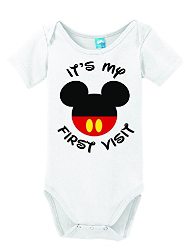 [It's my First Visit to Disney Printed Infant Bodysuit Baby Romper White 3-6 Month] (Family Disney Shirts)