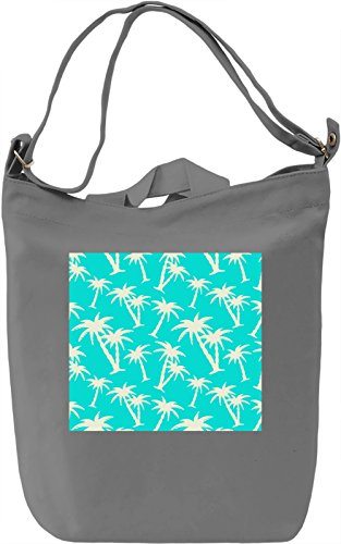 Palms Print Borsa Giornaliera Canvas Canvas Day Bag| 100% Premium Cotton Canvas| DTG Printing|