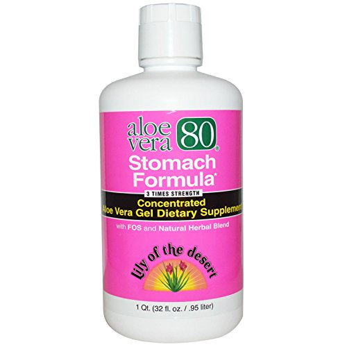 Lily of the Desert, Aloe Vera 80, Stomach Formula, 32 fl oz (.95 L) - 2pc