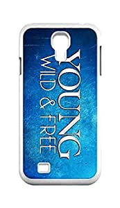 Cool Painting Young Wild and Free Snap-on Hard Back Case Cover Shell for Samsung GALAXY S4 I9500 I9502 I9508 I959 -1417
