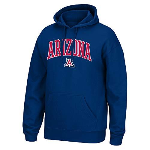 Top of the World NCAA Men's Arizona Wildcats Applique Arch Over Hoodie Navy X -