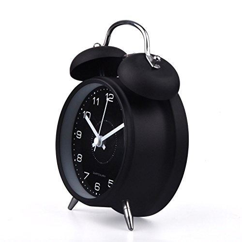 Hito 4 Quot Silent Non Ticking Quartz Analog Alarm Clock W