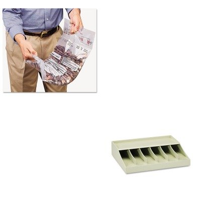 KITMMF210470089MMF2310421DBL20 - Value Kit - MMF Double Handle Coin Tote (MMF2310421DBL20) and MMF Bill Strap Rack (MMF210470089)