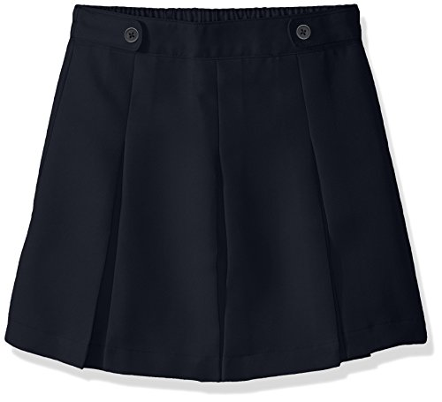 Dockers Plus Girls' Uniform Woven Scooter Pleated, Navy, 10.5