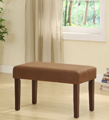 UPC 543534414214, Chocolate Microfiber & Wood Vanity Bench
