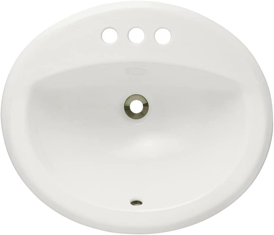 O2018-Bisque Overmount Porcelain Bathroom Sink, Sink Only