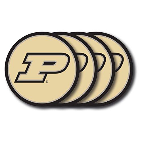 NCAA Purdue Boilermakers Vinyl Coaster Set (Pack of 4) ()