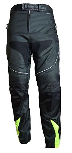 Ledershop-online Bangla 2152 Motorrad Hose Tourenhose Herren Textil Cordura 600 schwarz neongelb S – 8 XL