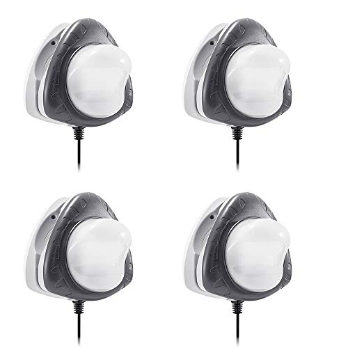 Intex Above Ground Underwater LED Magnetic Swimming Pool Wall Light (4 Pack)
