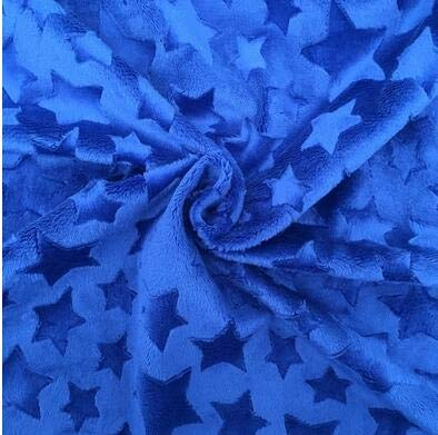 rs Embossed Minky Fleece Fabric Micro Mink DIY Sew Blanket Toy Fabric - (Color: S20 royal blue) ()