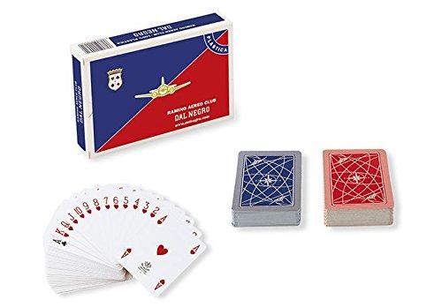 Dal Negro: Ramino Aero Club Plastic Italian Playing Cards - 2 Decks of 55 Cards [ Italian Import ] ()