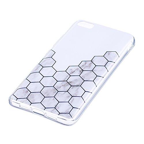 XiaoMi 5 Soft TPU Carcasa Funda, KaseHom mármol Cover Geometría de granito geométrica caso de las iniciales Protectiva Anti-rasguños Caso y [Lápiz óptico negro gratis] -8 3