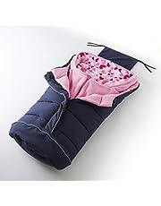 Nuvita 9805 Caldobimbo 2-in-1 Kinderwagen Fußsack Universal passend für alle Kinderwagenmodelle Premium Waschmaschinenfester Kinderwagensack Winddicht und Wasserdicht EU Marke(Blue - Pink Hearts)