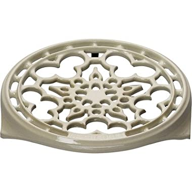 Le Creuset Enameled Cast-Iron 9-Inch Deluxe Round Trivet, Dune