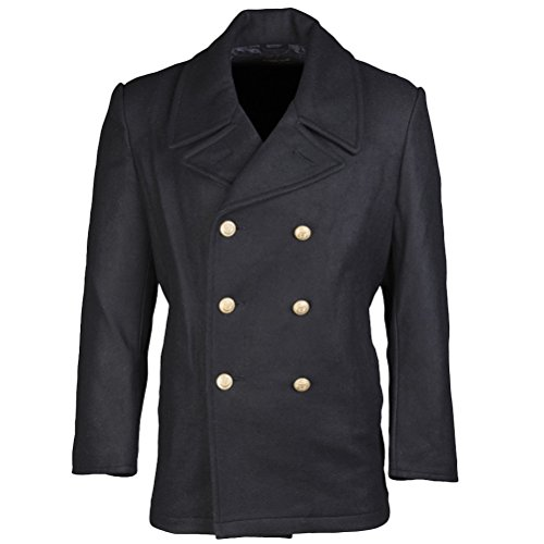 After Six Wool Coat - Mil-Tec German BW Marine Colani Pea Coat Navy size XXL