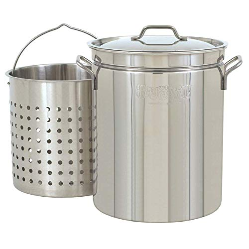 Bayou Classic 1136, 36-Qt. Stainless Fryer/Steamer with Vented Lid and (Cypress Basket)