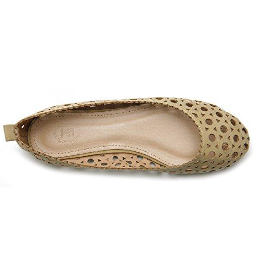 Ollio Damesschoen Ballet Uitgesneden Comfort Flat Dbge
