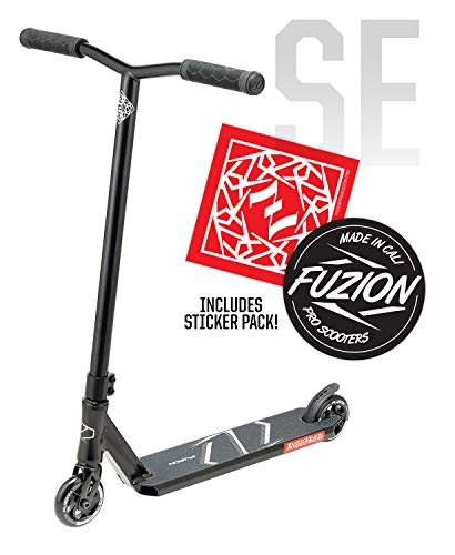 Fuzion Z250 Pro Scooters - Trick Scooter - Intermediate and Beginner Stunt Scooters for Kids 8 Years and Up, Teens and Adults - Durable Freestyle Kick Scooter for Boys and Girls (2020 SE Black)