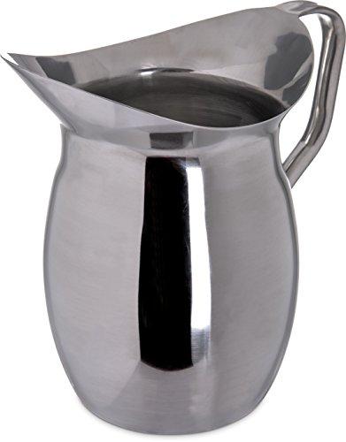 Carlisle 609273 Bell Pitcher, 3 quart, Stainless Steel