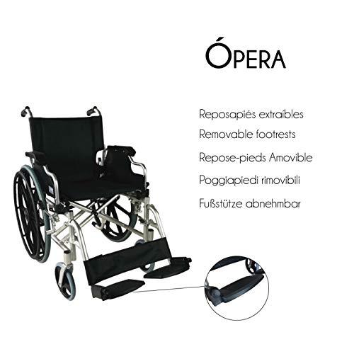 Mobiclinic, modelo Ópera, Silla de ruedas ortopédica, plegable ...