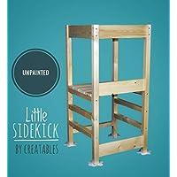 Little Sidekick Kitchen Helper Learning Tower with Spilt Milk Anti Tips - UNPAINTED