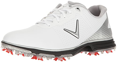 Callaway Men's Coronado Golf Shoe, White/Black, 8 W US