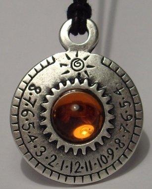 Retroworks Crystal Sundial Necklace - Ra Series - Aten (Topaz)