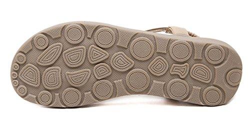 Abricot décoration colorée plat de thong en pierre Sandale d'été Fortuning's JDS avec ornementale 8wUq7xA