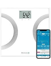 medisana BS 445 connect, digitale weegschaal voor lichaamsanalyse 180 kg, personenweegschaal voor het meten van lichaamsvet, lichaamswater, spiermassa en botgewicht, lichaamsvetweegschaal met app