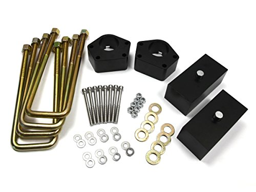 1986 - 1995 Toyota Pickup Lift Kit IFS 4WD 3 Inch Front 2 Inch Rear BIG BRAWNS Aircraft Billet Spacers Lift Blocks and Extended U-Bolts (89 Toyota Lift Kit compare prices)
