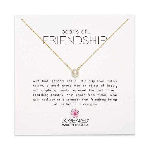 - Dogeared Cultured-Freshwater Pearls of Friendship Necklace