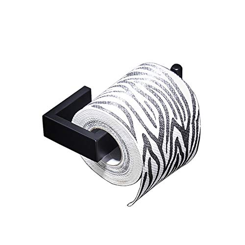 (Toilet Paper Holder with 5.7'' 304 Stainless Steel Toilet Roll Holder Matte Black Bathroom Hardware Accessory)
