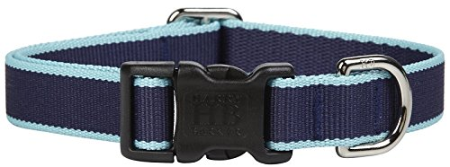 Harry Barker Chelsea Collar - Navy & Turquoise - Medium - 12-20 inch